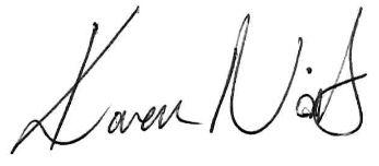Karen Nisbet signature