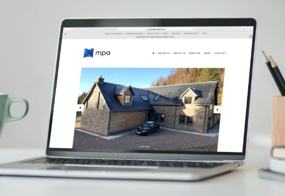 new website design for mparchitecture